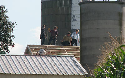 Amish Barn Raising - Lancaster County, PA
