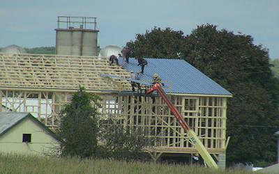 Amish Barn Raising image 3