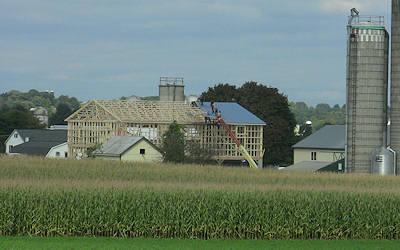 Amish Barn Raising image 2