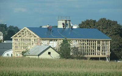 Amish Barn Raising image 4