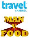 Travel Channel Man v. Food logo