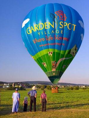 Hot Air Balloon with Amish