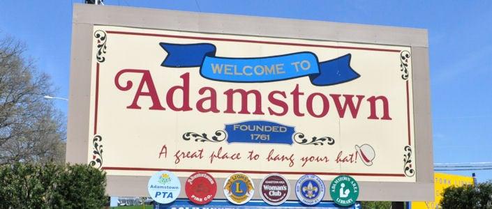 Adamstown sign