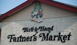 Bird-in-Hand Farmers Market sign