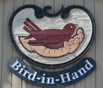 Bird-in-Hand sign