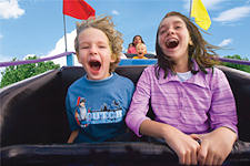 Dutch Wonderland - kids on roller coaster