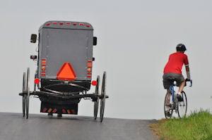 Bike & Amish buggy