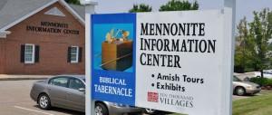 Mennonite Information Center exterior & sign