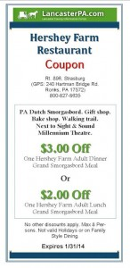 Hershey Farm Restaurant Coupon