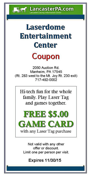 Laserdome Coupon