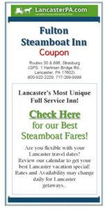 Fulton Steamboat Inn Coupon