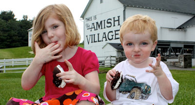 Kids at Amish Village