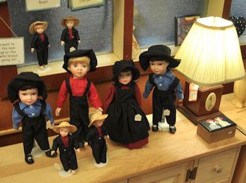 Amish dolls at Dutch Haven