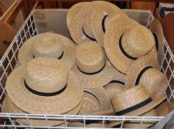 Amish hats at Dutch Haven