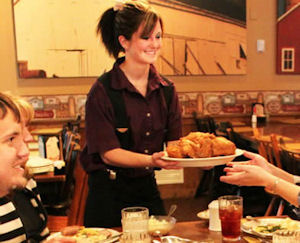 Plain and Fancy Farm waitress