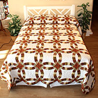 Village Quilts - Double Wedding Ring quilt
