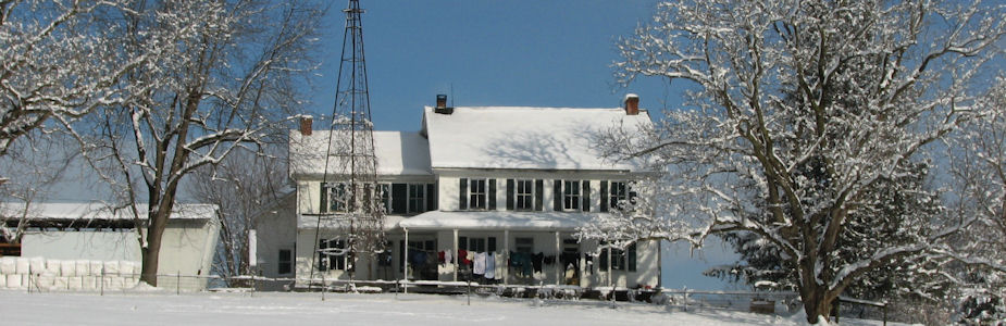 Amish House in Snow