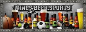 Wings. Beer. Sports.