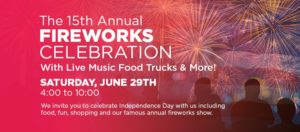 Rockvale Square Fireworks 2019
