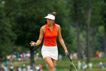 Michelle Wie waving