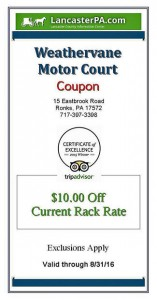 Weathervane Motor Court Coupon
