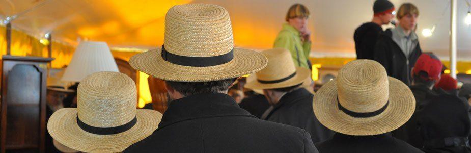 Amish Hat at Mud Sale