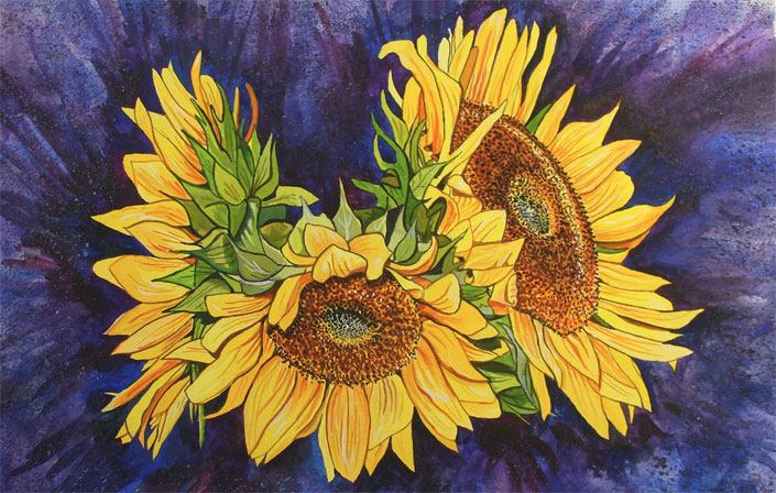Event acrylic sunflower paint party events for How to paint sunflowers in acrylic