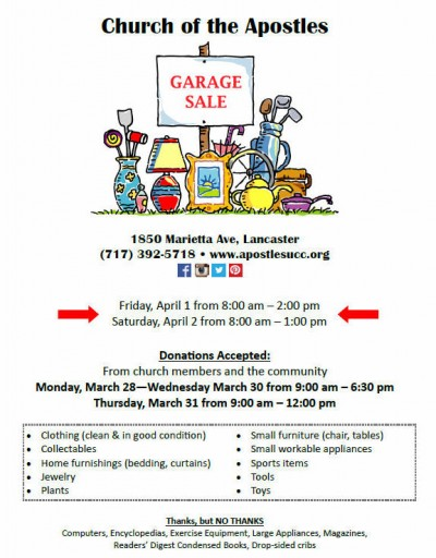 EVENT: Garage Sale - Church of the Apostles | Events