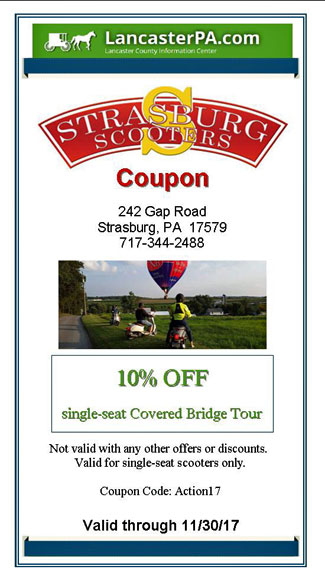 Strasburg Scooters Coupon Save On A Fascinating Covered