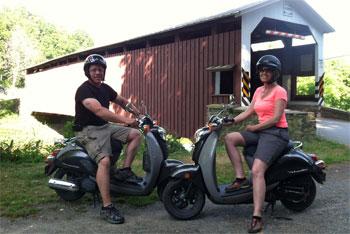Strasburg Scooters Covered Bridge Tour
