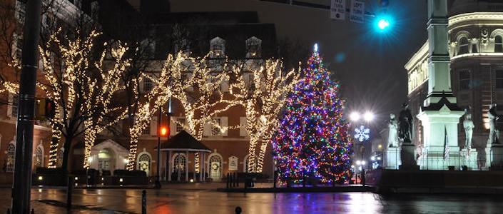 Downtown Lancaster Christmas Lights