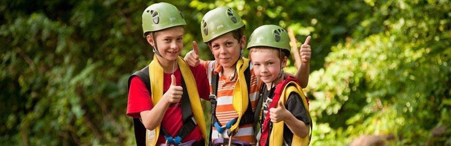 Refreshing Mountain Kid's Zip-line