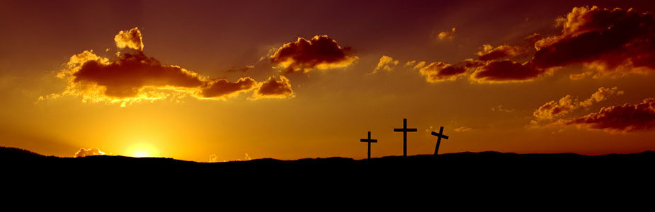 Easter Morning with Crosses