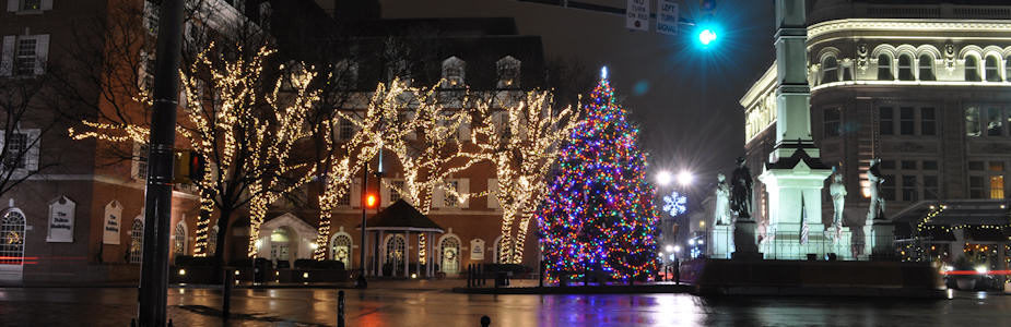 Christmas Lights in Downtown Lancaster, PA