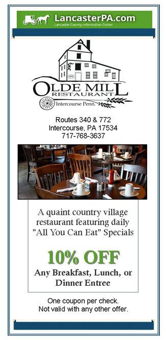 Olde Mill Restaurant - Lancaster, PA