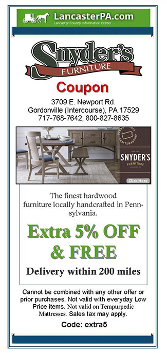 Snyder's Furniture Coupon